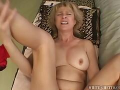 A Hot Mom Sucks Huge Cock & Gets Fucked In Doggy Style